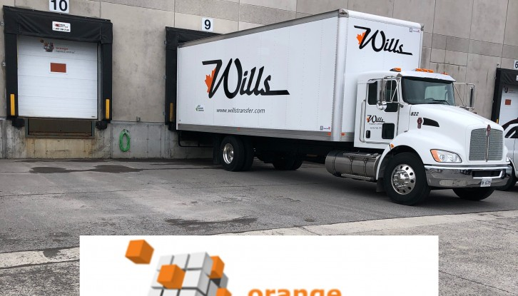 Wills Transfer Welcomes Orange Logistics Centres & Truck #822 to the TEAM